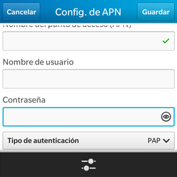 BlackBerry Q5 - Internet - Configurar Internet - Paso 9