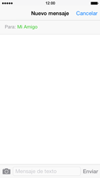 Apple iPhone 5s - MMS - Escribir y enviar un mensaje multimedia - Paso 7