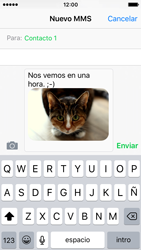 Apple iPhone SE - MMS - Escribir y enviar un mensaje multimedia - Paso 13