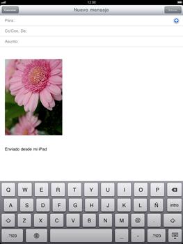 Apple iPad 2 - E-mail - Escribir y enviar un correo electrónico - Paso 7
