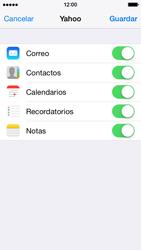 Apple iPhone 6 iOS 8 - E-mail - Configurar Yahoo! - Paso 9