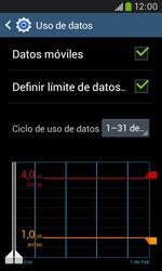 Samsung S7580 Galaxy Trend Plus - Internet - Ver uso de datos - Paso 11