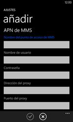 Nokia Lumia 520 - MMS - Configurar el equipo para mensajes multimedia - Paso 12