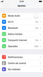 Apple iPhone SE - iOS 11 - Red - Activar o desactivar el modo avión - Paso 3