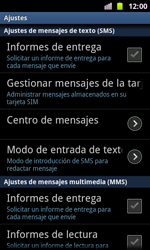 Samsung I8160 Galaxy Ace II - MMS - Configurar el equipo para mensajes de texto - Paso 4