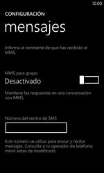 Nokia Lumia 520 - MMS - Configurar el equipo para mensajes de texto - Paso 6