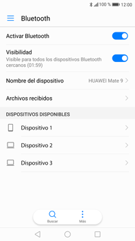 Huawei Mate 9 - Connection - Conectar dispositivos a través de Bluetooth - Paso 5