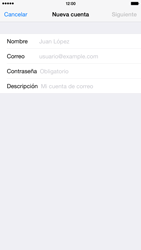 Apple iPhone 6 Plus iOS 8 - E-mail - Configurar correo electrónico - Paso 7