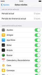 Apple iPhone 6 iOS 10 - Internet - Ver uso de datos - Paso 4
