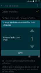 Samsung G850F Galaxy Alpha - Internet - Ver uso de datos - Paso 7