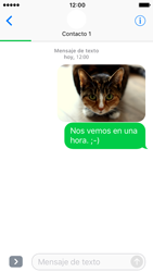 Apple iPhone 5s iOS 10 - MMS - Escribir y enviar un mensaje multimedia - Paso 16