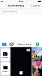 Apple iPhone SE - iOS 11 - MMS - Escribir y enviar un mensaje multimedia - Paso 10