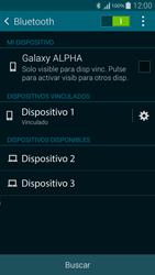 Samsung G850F Galaxy Alpha - Connection - Conectar dispositivos a través de Bluetooth - Paso 8