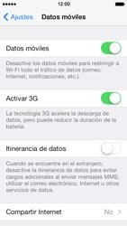 Apple iPhone 5s - Internet - Activar o desactivar la conexión de datos - Paso 4