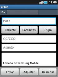 Samsung S5570 Galaxy Mini - E-mail - Escribir y enviar un correo electrónico - Paso 5