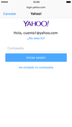 Apple iPhone 6s iOS 10 - E-mail - Configurar Yahoo! - Paso 7
