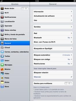 Apple iPad 2 - Red - Activar o desactivar el modo avión - Paso 3
