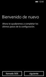 Nokia Lumia 635 - Primeros pasos - Activar el equipo - Paso 3