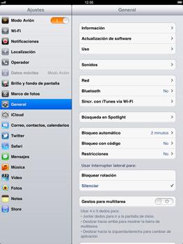Apple iPad 2 - Red - Activar o desactivar el modo avión - Paso 4