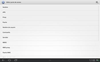 Samsung P7500 Galaxy Tab 10-1 - MMS - Configurar el equipo para mensajes multimedia - Paso 9