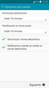 Samsung N910F Galaxy Note 4 - E-mail - Configurar correo electrónico - Paso 17