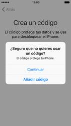 Apple iPhone 5s iOS 10 - Primeros pasos - Activar el equipo - Paso 13