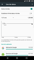 BlackBerry DTEK 50 - Internet - Ver uso de datos - Paso 5