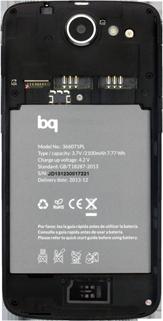 BQ Aquaris 5 HD - Primeros pasos - Quitar y colocar la batería - Paso 4