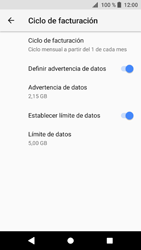 Sony Xperia XZ1 - Internet - Ver uso de datos - Paso 15