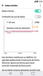 LG K10 (2017) - Internet - Ver uso de datos - Paso 5