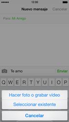 Apple iPhone 5s - MMS - Escribir y enviar un mensaje multimedia - Paso 9