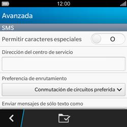 BlackBerry Q5 - MMS - Configurar el equipo para mensajes de texto - Paso 7
