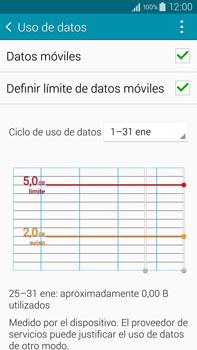 Samsung N910F Galaxy Note 4 - Internet - Ver uso de datos - Paso 10