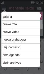 Nokia Asha 311 - MMS - Escribir y enviar un mensaje multimedia - Paso 12