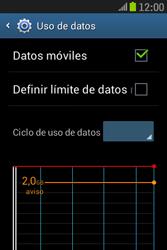 Samsung S6310 Galaxy Young - Internet - Ver uso de datos - Paso 5