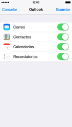 Apple iPhone 6 iOS 8 - E-mail - Configurar Outlook.com - Paso 8
