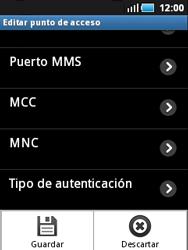 Samsung S5570 Galaxy Mini - MMS - Configurar el equipo para mensajes multimedia - Paso 12
