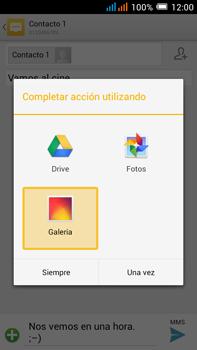 Alcatel Pop C9 - MMS - Escribir y enviar un mensaje multimedia - Paso 16