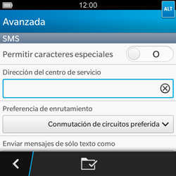BlackBerry Q5 - MMS - Configurar el equipo para mensajes de texto - Paso 8