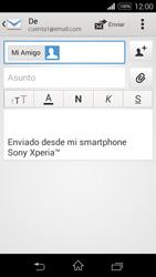 Sony D2203 Xperia E3 - E-mail - Escribir y enviar un correo electrónico - Paso 8