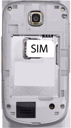 Samsung S5570 Galaxy Mini - Primeros pasos - Quitar y colocar la batería - Paso 3