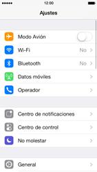 Apple iPhone 5s - Red - Activar o desactivar el modo avión - Paso 3