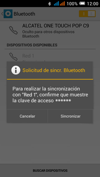 Alcatel Pop C9 - Connection - Conectar dispositivos a través de Bluetooth - Paso 7