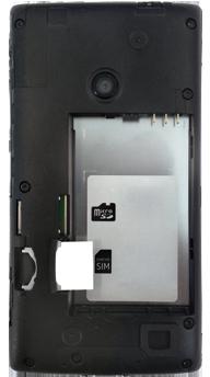 Nokia Lumia 520 - Primeros pasos - Quitar y colocar la batería - Paso 3