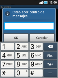 Samsung S5570 Galaxy Mini - MMS - Configurar el equipo para mensajes de texto - Paso 5