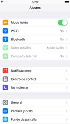Apple iPhone 6 iOS 10 - Red - Activar o desactivar el modo avión - Paso 4
