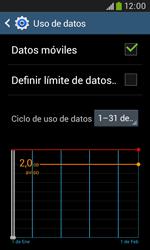 Samsung S7580 Galaxy Trend Plus - Internet - Ver uso de datos - Paso 8