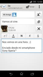 Sony D2203 Xperia E3 - E-mail - Escribir y enviar un correo electrónico - Paso 14