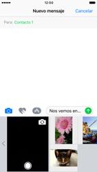 Apple iPhone 6s iOS 10 - MMS - Escribir y enviar un mensaje multimedia - Paso 10