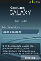 Samsung S6310 Galaxy Young - Primeros pasos - Activar el equipo - Paso 4